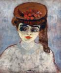 Живопись | Кес ван Донген | Женщина с вишнями на шляпке, 1905