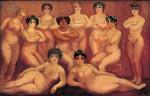 Живопись | Кес ван Донген | Les lutteuses (Lutteuses du Tabarin), 1907-08