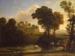 Живопись   Клод Лоррен   Итальянский пейзаж, 1648