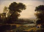 Живопись | Клод Лоррен | Пейзаж со сценой отдыха на пути в Египет (Полдень), 1661