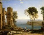 Живопись   Клод Лоррен   Пейзаж с Аполлоном и Сивиллой Кумской, 1645-49