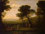 Живопись   Клод Лоррен   Пейзаж с танцующими, 1669