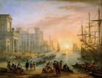 Живопись | Клод Лоррен | Порт на закате, 1639