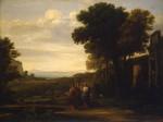 Живопись | Клод Лоррен | Христос на пути в Эммаус, 1660