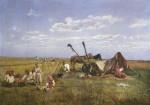 Живопись | Николай Маковский | Отдых на жатве, 1871