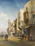 Живопись | Николай Маковский | Улица в Каире, 1876