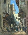 Живопись | Николай Маковский | Улочка в Каире, ранее 1880