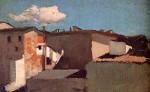 Живопись | Рафаэлло Сернези | Крыши на солнце, 1861