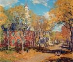 Живопись | Уиллард Лерой Меткалф | Октябрьское утро, 1917