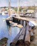 Живопись | Уиллард Лерой Меткалф | Рыбный причал – Глостер, 1898