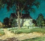 Живопись | Уиллард Лерой Меткалф | Старая усадьба, Коннектикут, 1914