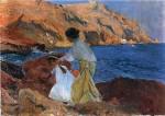 Живопись | Хоакин Соролья-и-Бастида | Клотильда и Елена на камнях в Хавеа, 1095