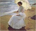 Живопись | Хоакин Соролья-и-Бастида | Клотильда на пляже, 1904