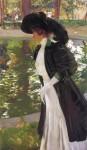 Живопись | Хоакин Соролья-и-Бастида | Клотильда прогуливается в садах Ла-Гранхи, 1907