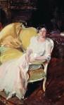 Живопись | Хоакин Соролья-и-Бастида | Клотильда, сидящая на софе, 1910