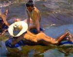 Живопись | Хоакин Соролья-и-Бастида | Мальчики на пляже, 1908