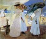 Живопись | Хоакин Соролья-и-Бастида | Под навесом, Сараус, 1910