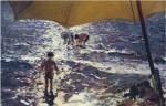 Живопись | Хоакин Соролья-и-Бастида | Полдень на пляже в Валенсии, 1904