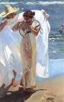 Живопись | Хоакин Соролья-и-Бастида | После купания, 1908
