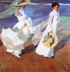 Живопись | Хоакин Соролья-и-Бастида | Прогулка по берегу моря, 1909