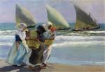 Живопись | Хоакин Соролья-и-Бастида | Три паруса, 1903