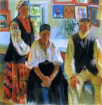 Живопись | Александр Мурашко | Сельская семья, 1914