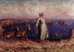 Живопись | Джон Питер Рассел | Белая пастушка с козами