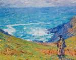 Живопись   Джон Питер Рассел   Рыболов на прекрасном скалистом острове, 1900-04