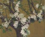 Живопись   Джон Питер Рассел   Almond Tree in Blossom, 1887