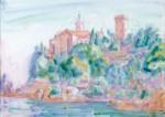 Живопись   Джон Питер Рассел   Castello Brown, Portofino, 1920