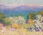 Живопись   Джон Питер Рассел   In the Morning, Alpes Maritimes from Antibes, 1891