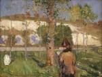 Живопись | Джон Питер Рассел | Madame Sisley on the Banks of the Loing at Moret, 1887