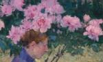 Живопись | Джон Питер Рассел | Peonies and Head of a Woman, 1887