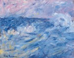 Живопись | Джон Питер Рассел | Stormy Sky and Sea, Belle Ile, off Brittany, 1890