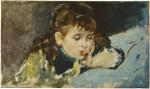 Живопись | Игнасио Пиназо Камарленх | Little girl reading, 1890-95