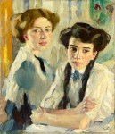 Живопись | Лео Путц | Blonde and Brunette, 1913
