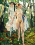 Живопись | Лео Путц | Two girls in the woods