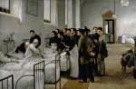 Живопись | Луис Хименес Аранда | Una sala del hospital durante la visita del medico en jefe, 1889