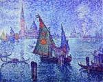 Живопись | Поль Синьяк | La Voile Verte, 1904