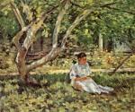 Живопись | Теодор Робинсон | Nettie Reading, 1894