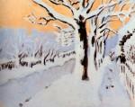 Живопись | Фэрфилд Портер | Конец дня. Снег, 1972