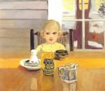 Живопись | Фэрфилд Портер | Кэти за столом, 1953