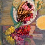 Живопись | Nata Vonk | Фрагмент 6 картины Цветные тени