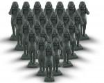 Скульптура | Юэ Миньцзюнь | Contemporary Terracotta Warriors No. 9, 2006, Set of 25