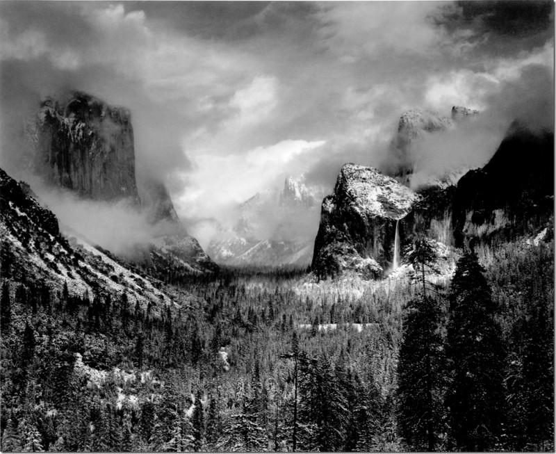 Ансел Адамс. Чёрно-белые пейзажи