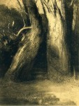 Графика   Одилон Редон   Два дерева, 1875