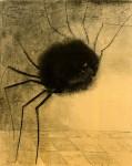 Графика   Одилон Редон   Улыбающийся паук, 1881