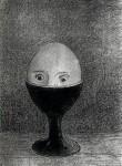 Графика | Одилон Редон | Яйцо, 1885