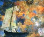Живопись | Одилон Редон | Flower Clouds, 1903