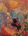 Живопись | Одилон Редон | Muse on Pegasus, 1900